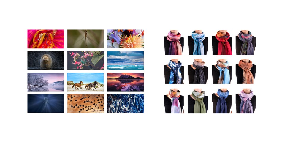 images and wrapped scarves