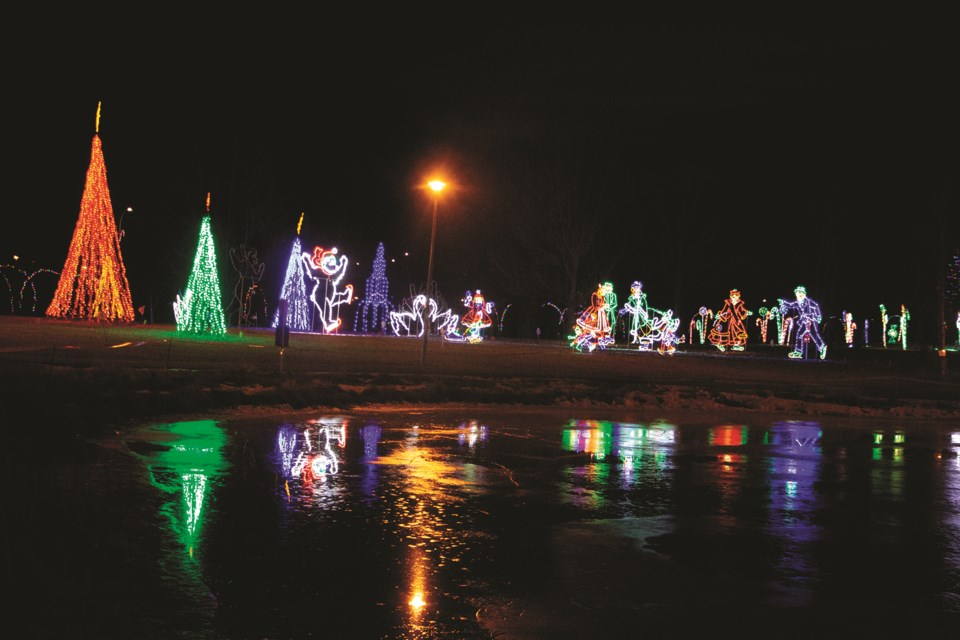 While the event was in limbo last week, the Airdrie Festival of Lights is allowed to proceed, providing locals some sense of normality in a year marred with cancellations and rescheduled events. Photo by Jordan Stricker/Airdrie City View.