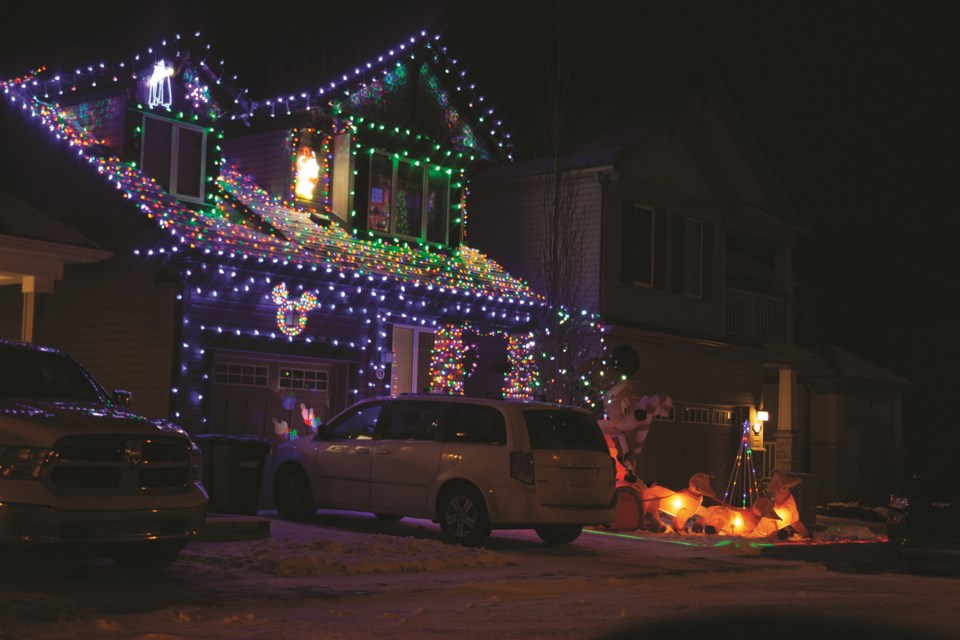 Airdrie residents have been going all out with their house-decorating in preparation for Christmas this year. Photo by Jordan Stricker/Airdrie City View