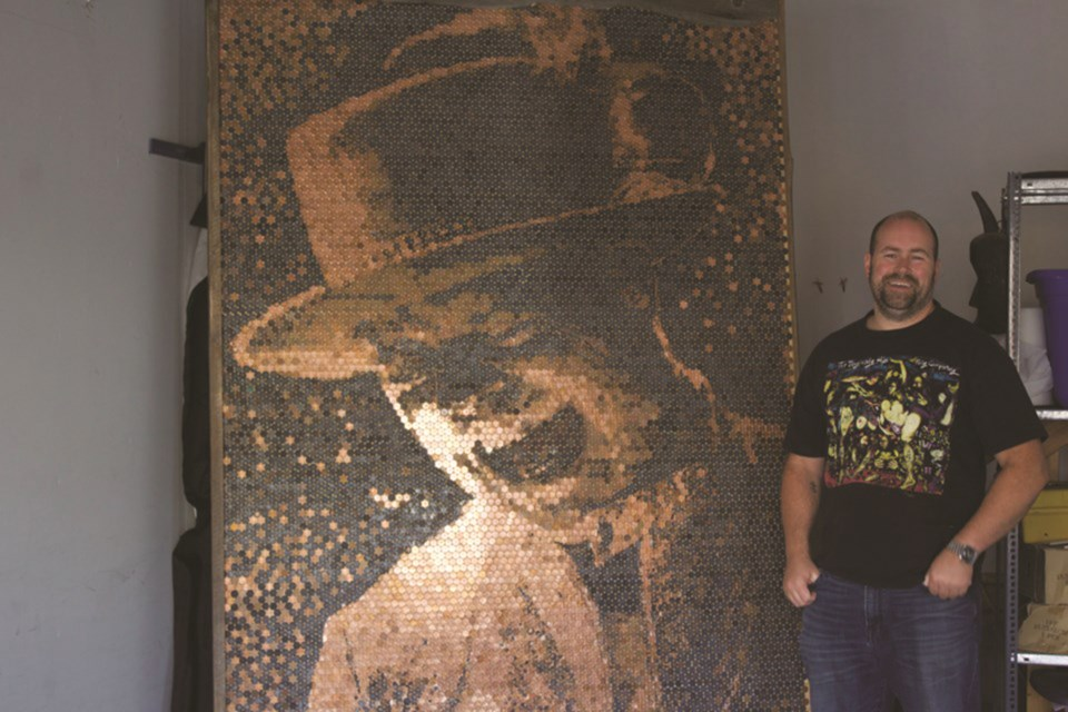 Luke Carruther's popular Gord Downie penny portrait has been chosen to be on display at Studio Bell's National Music Centre in downtown Calgary. File Photo/Airdrie City View