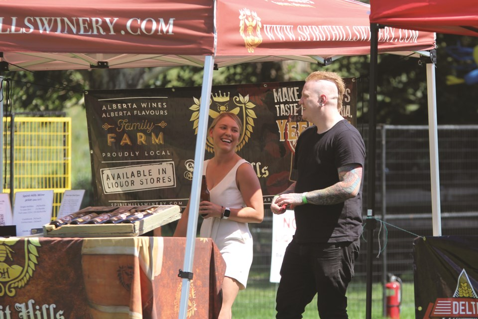 Various vendors served local brews at the Airdrie Food for Thought festival at Nose Creek Regional Park on July 10. Photo by Carmen Cundy/Airdrie City View
