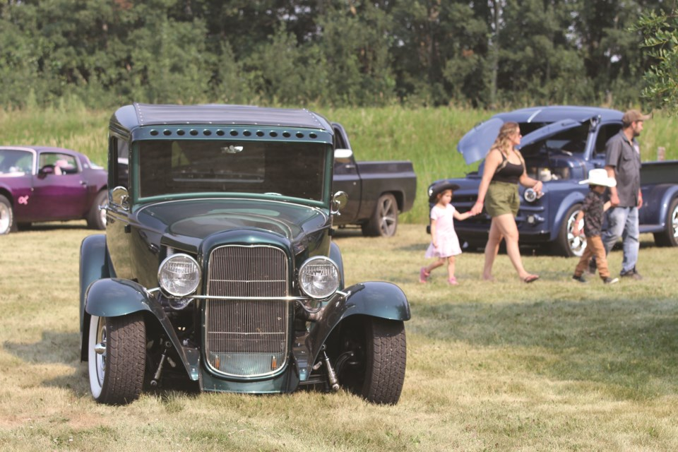 Classic cars were on display at the Cars and Country Stars event near Irricana on July 24.