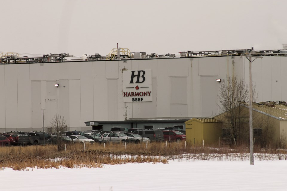 After numerous COVID-19 outbreaks, the Harmony Beef processing plant has been ramping up measures to avoid more cases. File photo/Rocky View Weekly