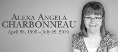 CHARBONNEAU, Alexa Angela - Obit DW