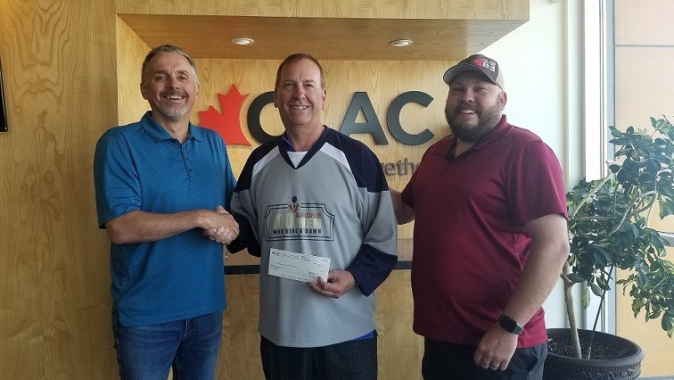 The 100 Airdrie Men Who Give A Damn recently received a $2,500 donation from the Christian Labour Association of Canada.