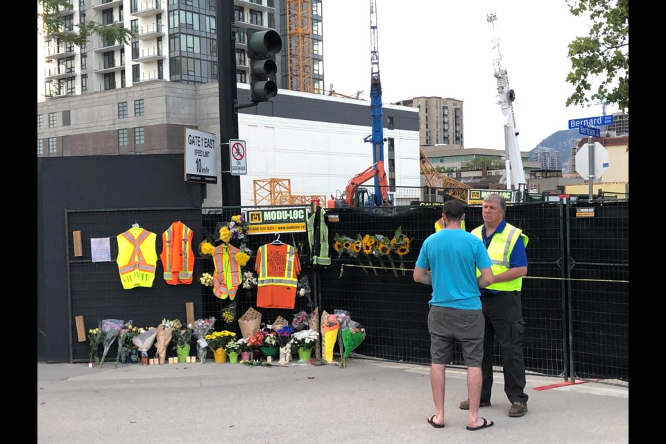 A group of Airdrie chaplains recently travelled west to assist those grieving the recent Kelowna crane collapse, which claimed the lives of five people.
