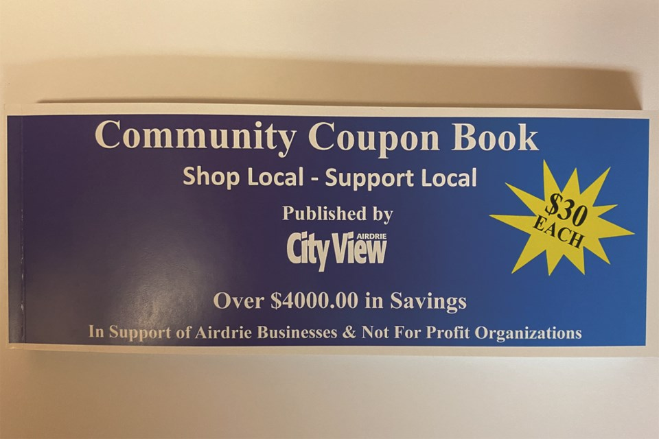 The coupon book includes about $4,000 worth of savings from 120 Airdrie-based businesses.