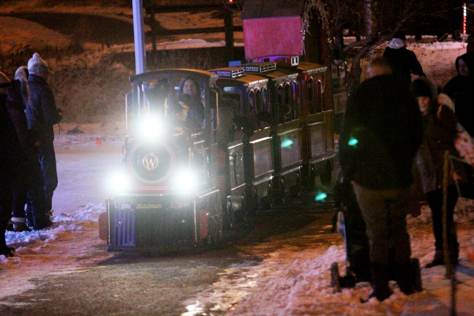 Airdrie firefighters and EMS workers will compete against each other Dec. 19, in an effort to sell the most tickets for miniature train rides at the Airdrie Festival of Lights. File Photo/Rocky View Publishing