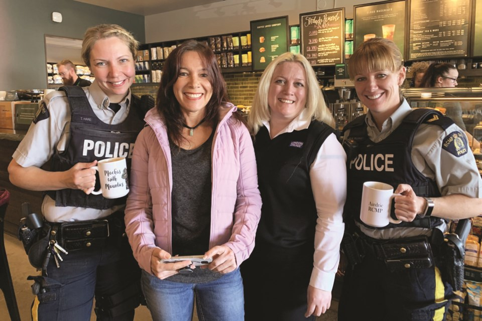 After being halted due to COVID-19 last spring, Airdrie RCMP's Mochas With Mounties public engagement initiative is being revived. Photo submitted/For Airdrie City View.