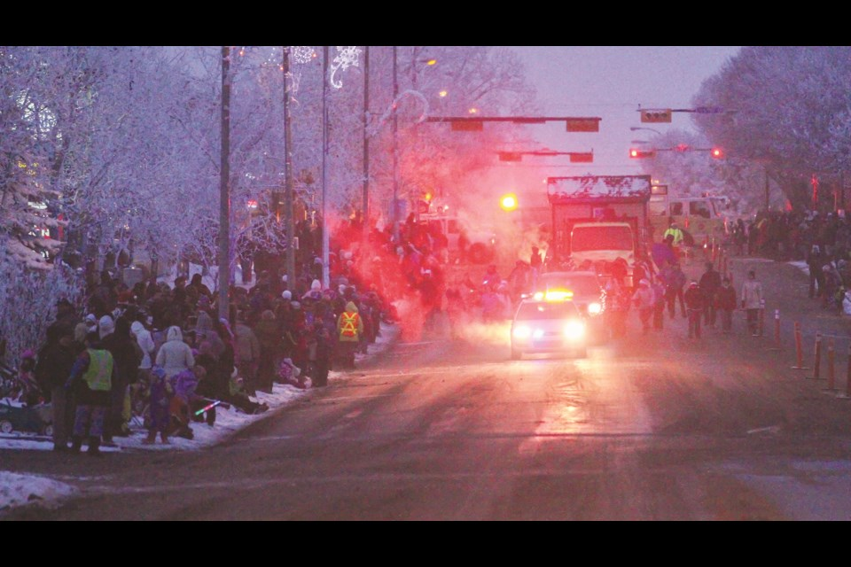 Thousands of people will line Main Street in downtown Airdrie to watch the Santa Claus Parade Dec. 7. File Photo/Rocky View Publishing