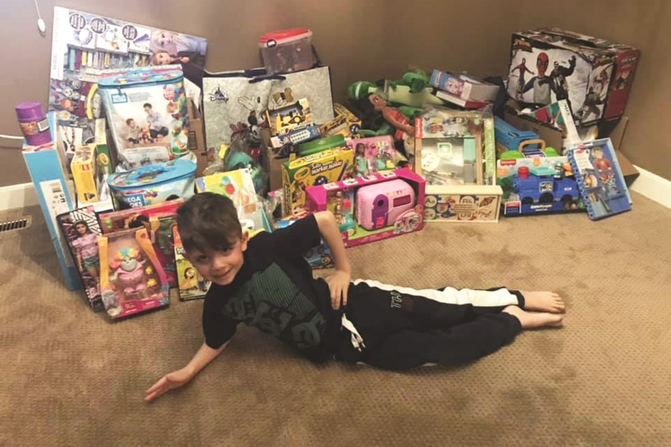 Ty Grycan is collecting toys for kids staying at the Stolliery Children's Hospital in Edmonton this holiday season. Photo submitted/For Airdrie City View.