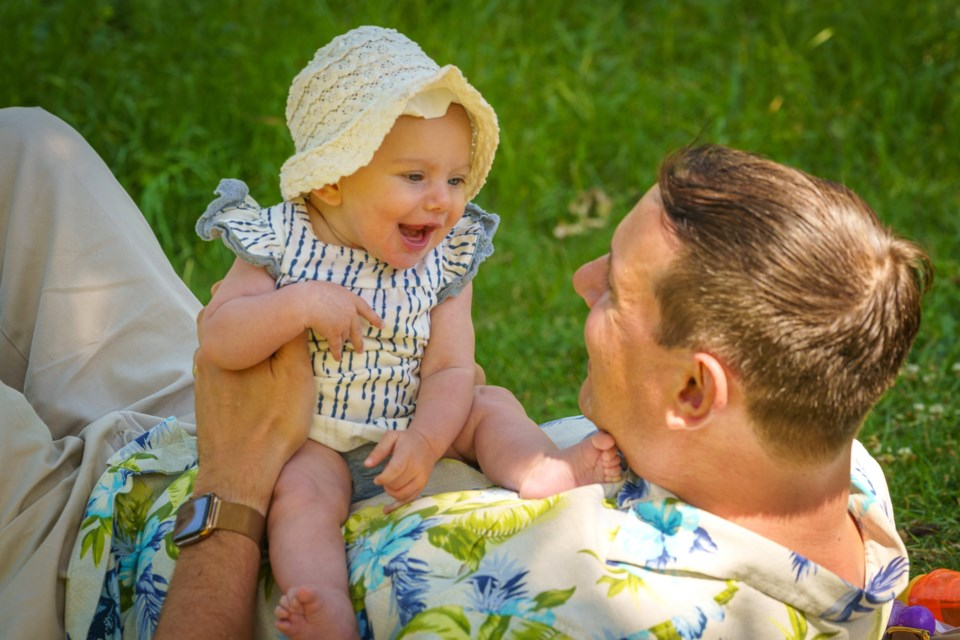 The Meyers family in Airdrie has gone through a lot in 2020, including a retinoblastoma diagnosis for their newborn daughter, Whitney. Photo submitted/For Airdrie City View.