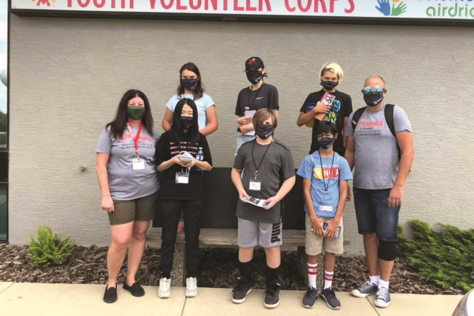 The Airdrie Youth Volunteer Corps has engaged in many community initiatives and projects throughout the last year. Photo submitted/For Airdrie City View.