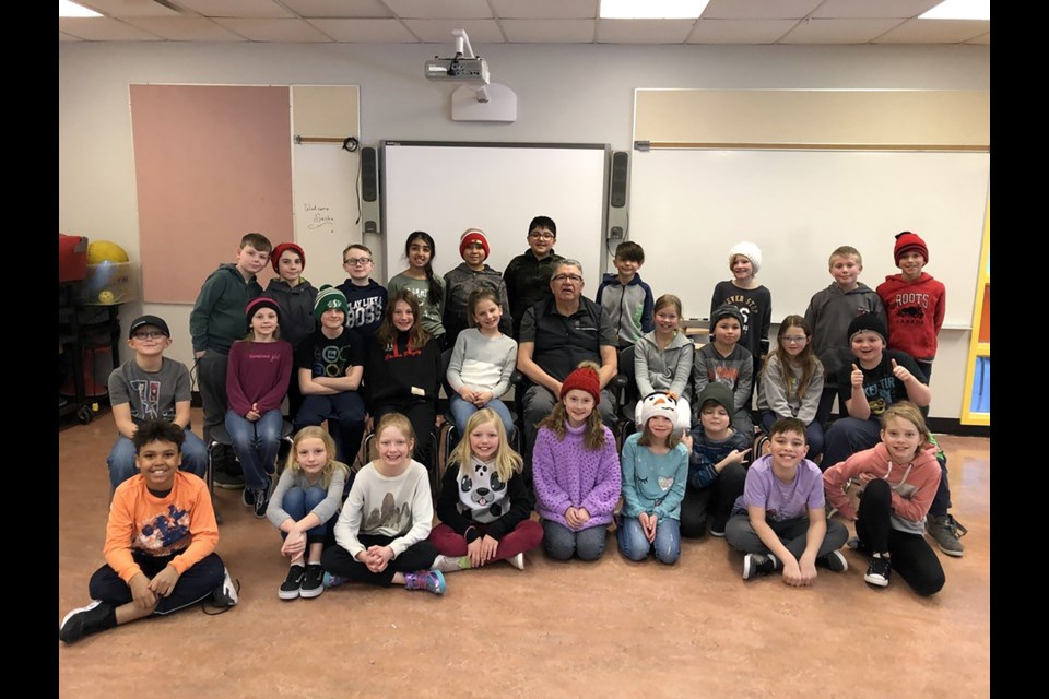 A Grade 4 class at A.E. Bowers Elementary School met with Elder Randy Bottle four times to learn about Indigenous culture.