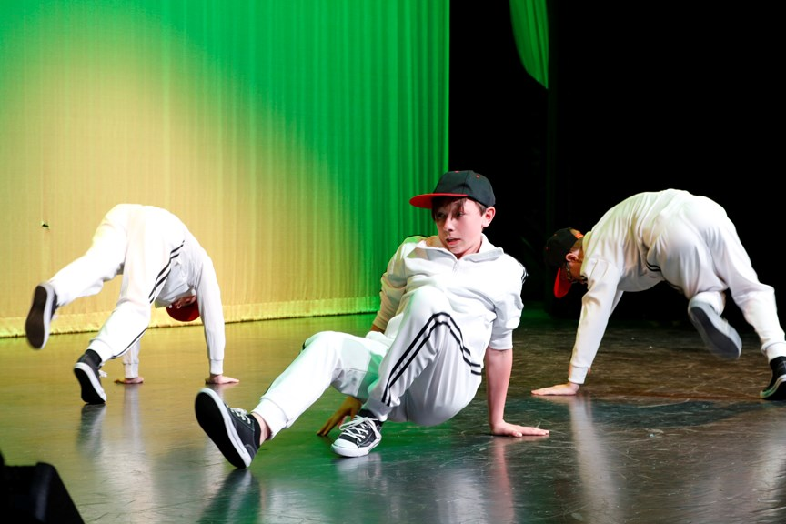 A group of young dancers performed a hip hop routine at the Airdrie Dance Academy's FOLLIES 2019 performance, May 4 at Bert Church LIVE Theatre.  Nathan Woolridge/Rocky View Publishing