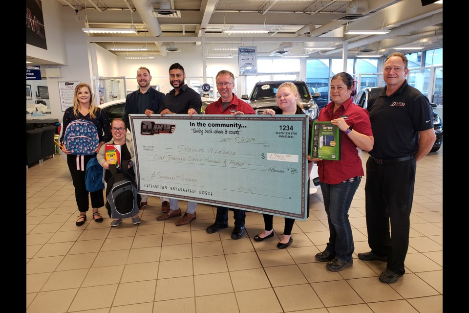 More than 320 local students benefitted from the Supplies 4 Success program this year, according to Community Links.  Photo Submitted/For Rocky View Publishing