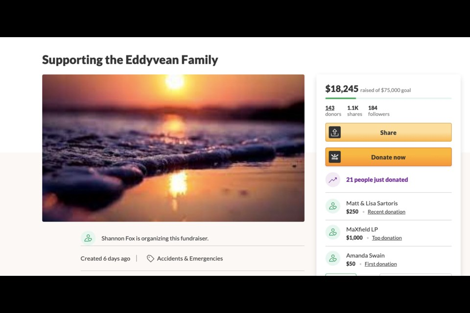 As of Aug. 27, the Go Fund Me page has raised over $18,000 for the family,