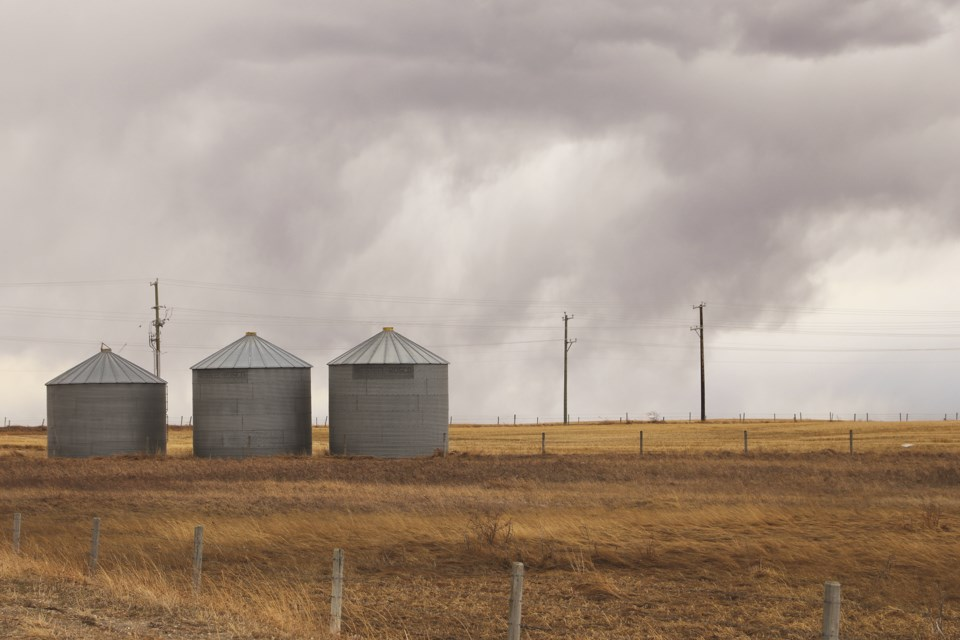 Storm clouds filled the sky on a recent Saturday afternoon in Rocky View County on Range Roadd 11 between Airdrie and Balzac.