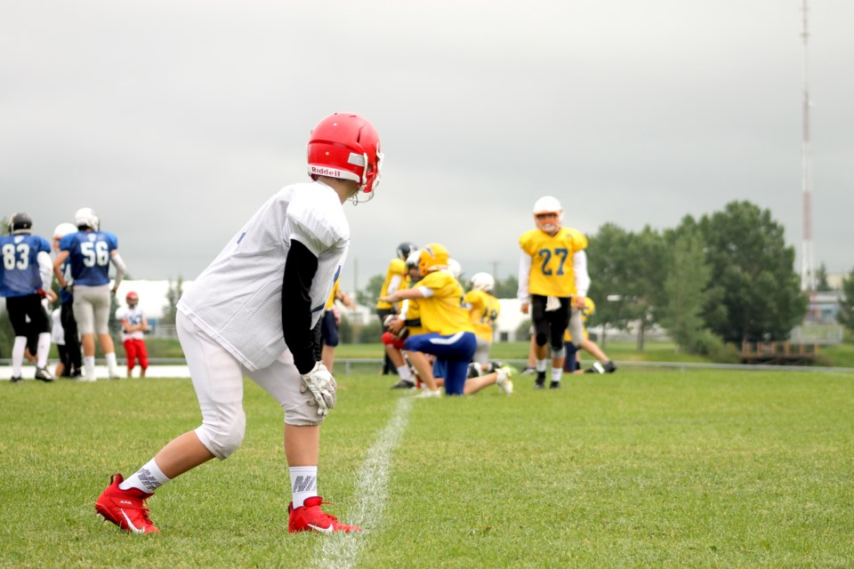 Airdrie's Ed Eggerer Athletic Park played host to more than 400 U16 football players from throughout southern Alberta on July 3 and 4, as part of Football Alberta's tryouts for an upcoming provincial showcase in Red Deer.