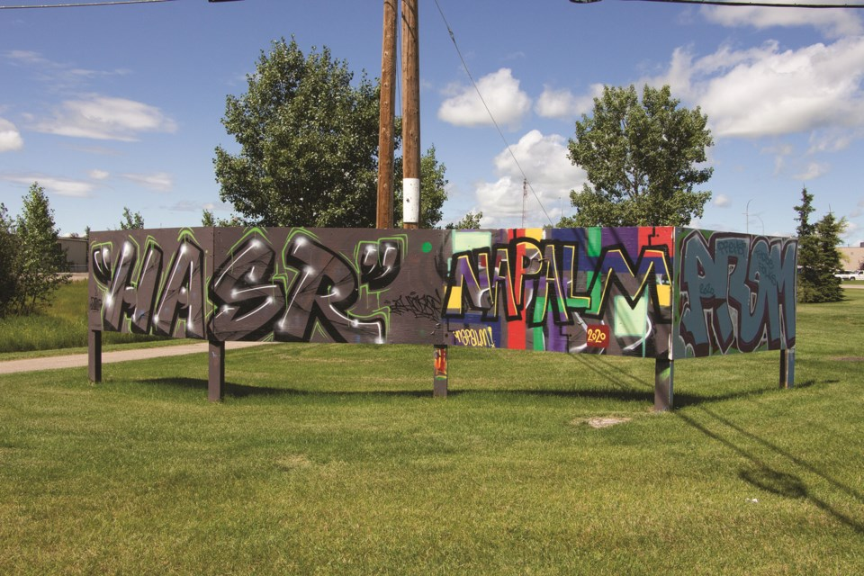 You can find what remains of the Airdrie Street Art Gallery in public areas of the city. These pieces are planted near the parking lot at East Lake Regional Park. Photo by Jordan Stricker/Airdrie City View.