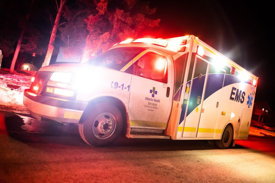 Ambulances are not always available in Airdrie, according to a union that represents paramedics, because they are often dispatched to incidents in Calgary.