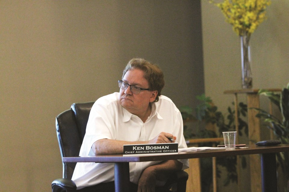 Crossfield's former Chief Administrative Officer Ken Bosman is suing his former employer for breach of contract.