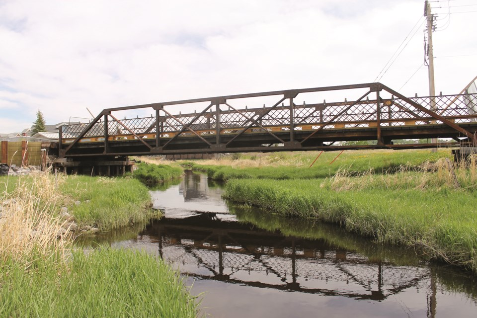 Airdrie City council voted June 1 to approve a roughly $102,000 budget amendment for the restoration of the 1928 Nose Creek Bridge to the Elevators. Photo by Scott Strasser/Airdrie City View