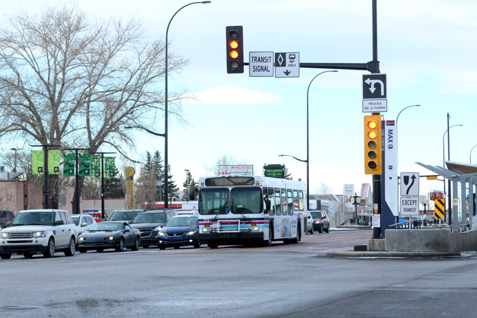 The City of Calgary's intergovernmental committee approved advancing discussions with the City of Chestermere to extend the MAX Purple BRT route east toward the lakeside city. Photo by Scott Strasser/Rocky View Weekly.