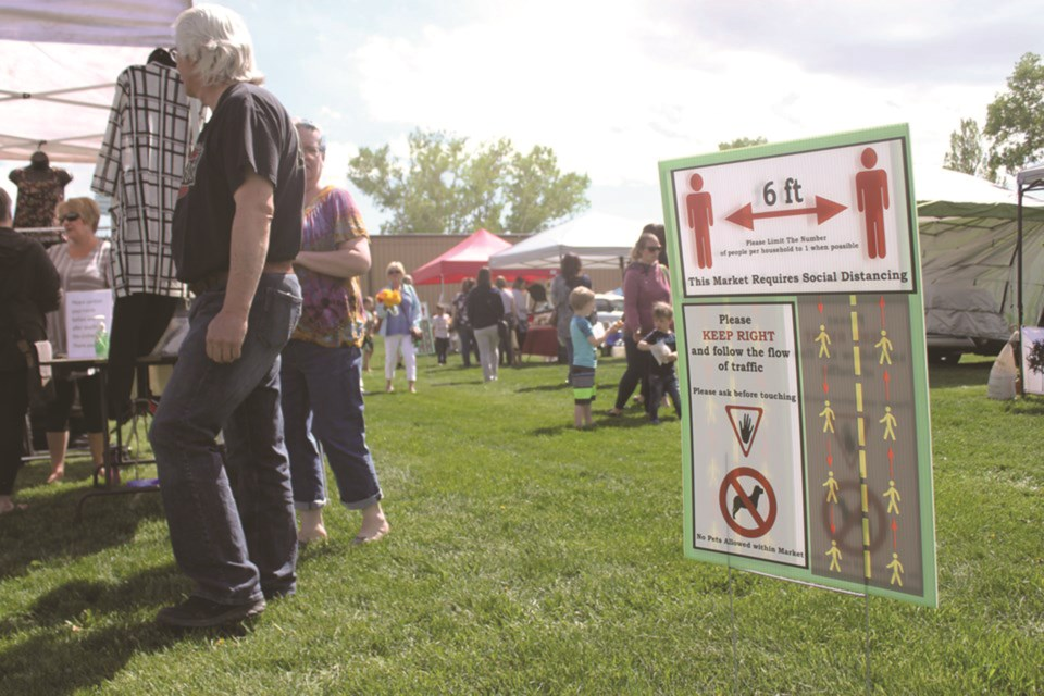 The Airdrie Farmers' Market is reminding visitors to abide by new health and safety protocols. File photo/Airdrie City View.