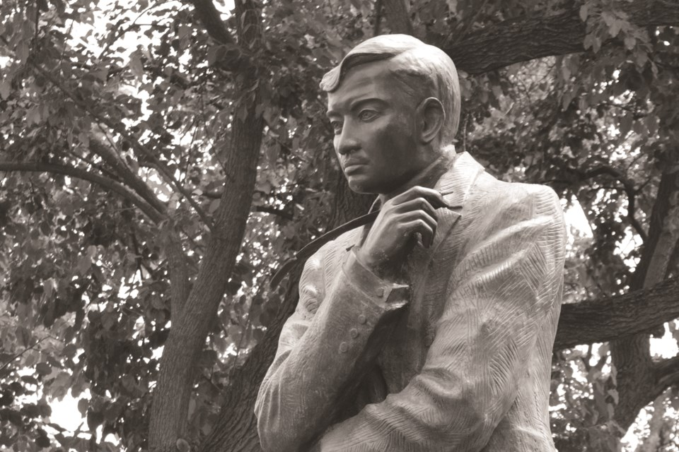 A statue of Filipino hero Dr. Jose Rizal. The Philippine Consulate General in Calgary is offering to donate a bust of the national icon to the City of Airdrie. The monument would be located in Nose Creek Regional Park, but the Airdrie Festival of Lights Society has some issue with the statue's proposed location.