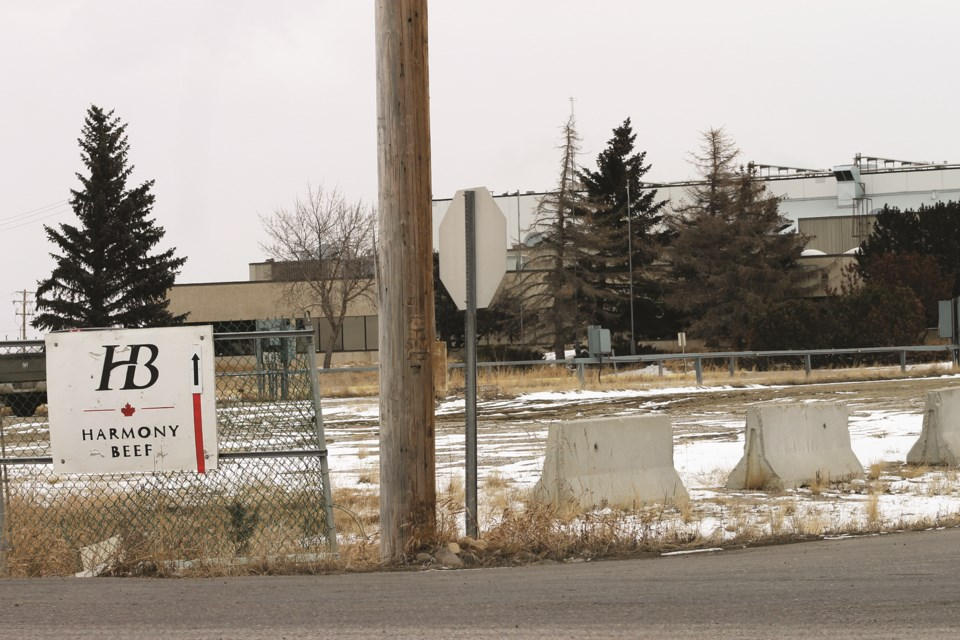 The Harmony Beef meat processing plant in Balzac is experiencing its third outbreak of COVID-19. File photo/Rocky View Weekly.