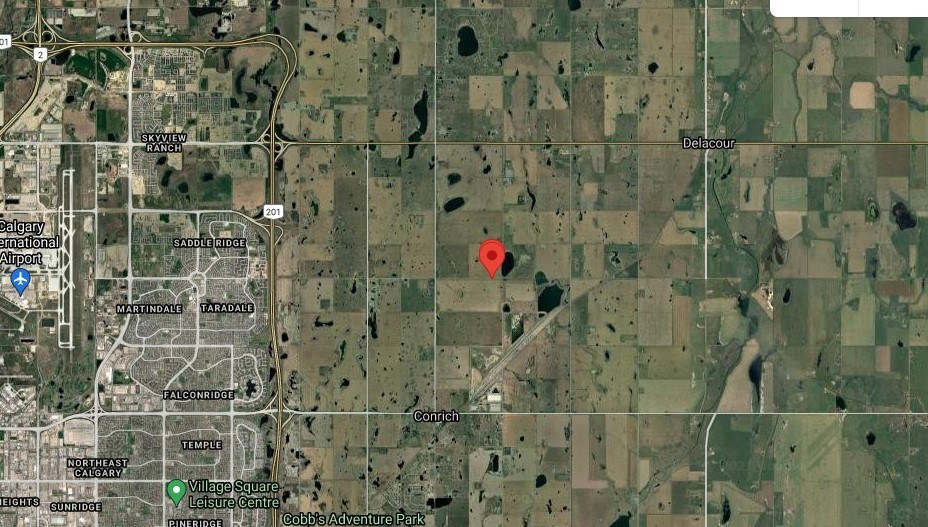 The red dot shows the location where the utility trailer was found.