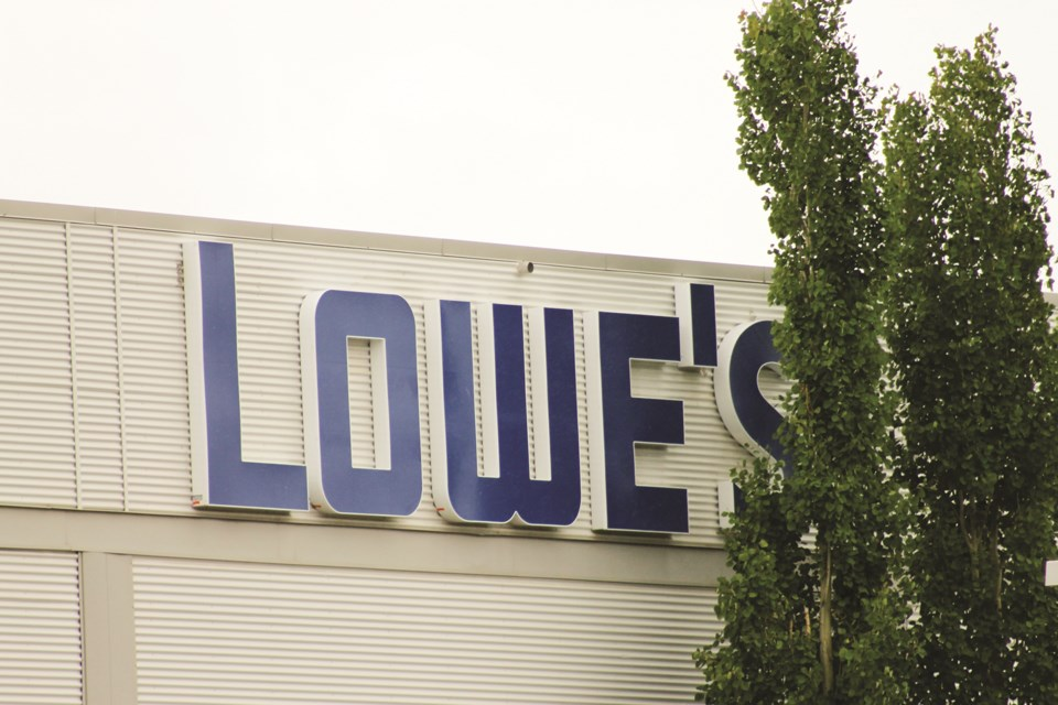 Lowe's Canada is setting up a distribution centre in East Balzac in 2021. Photo by Scott Strasser/Rocky View Weekly.