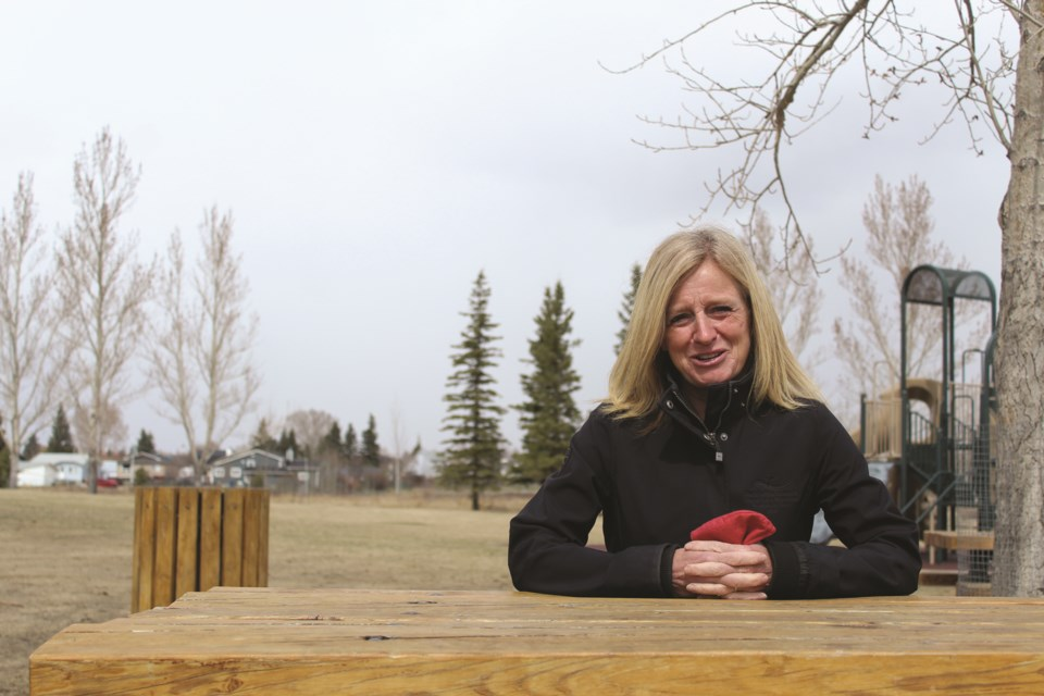NDP Leader Rachel Notley took questions from the Airdrie City View editorial team at Nose Creek Regional Park on April 23.