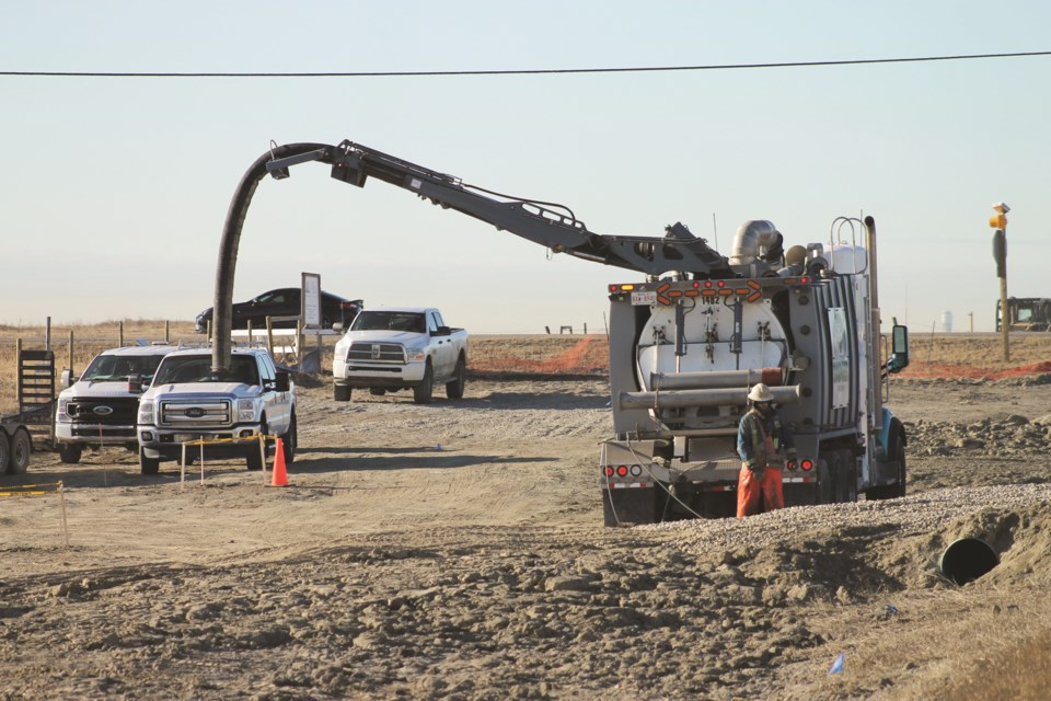 Crews were on site this week for early construction work at the intersection of Range Road 11 and Highway 567, south of Airdrie.