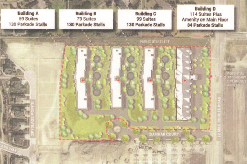 A proposed seniors facility would be located west of 12 Mile Coulee Road, which borders Rocky View County and Calgary. Photo submitted/For Rocky View Weekly.