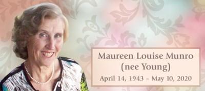 MUNRO, Maureen - Obit DW