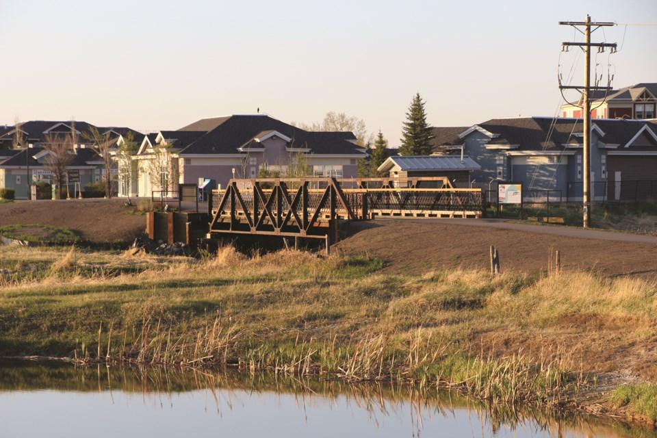 The Nose Creek Bridge is Airdrie's first Municipal Historic Resource. After a restoration project in 2020, it was recently reopened to foot traffic and cyclists.