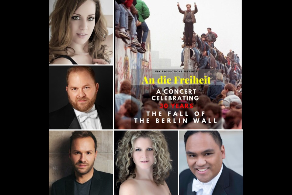 The Polaris Centre for the Performing Arts will host an opera concert Nov. 7, to mark the 30-year anniversary of the Fall of the Berlin Wall. Photo Submitted/For Rocky View Publishing