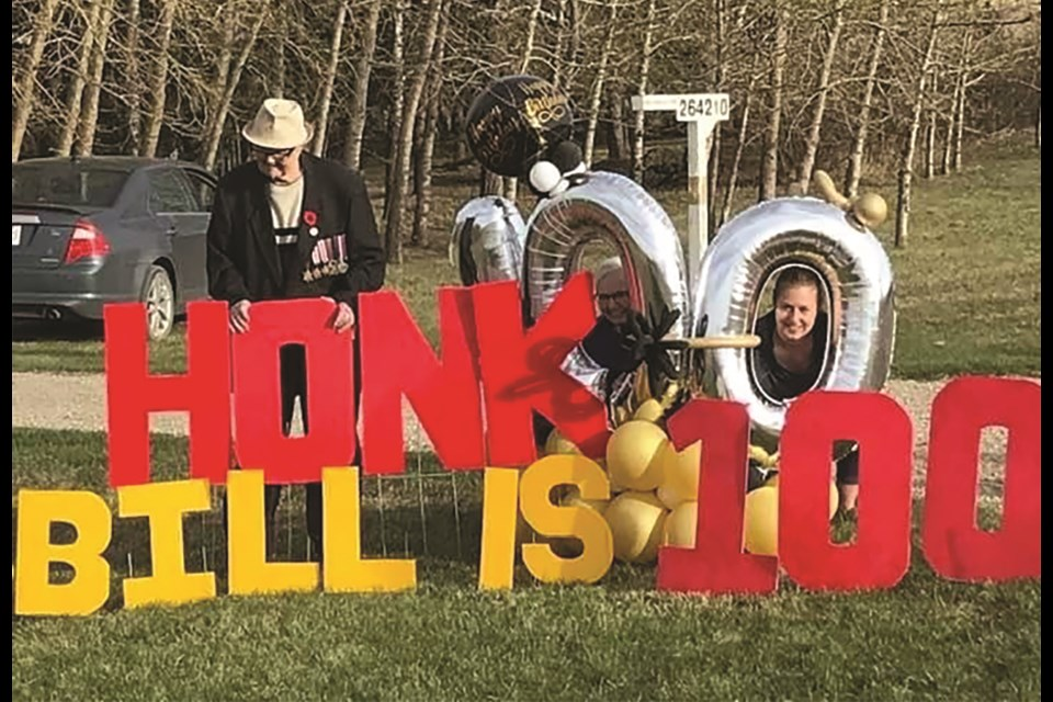 Rocky View County resident Bill Ward celebrated his 100th birthday May 18.  Photo submitted/For AirdrieTODAY