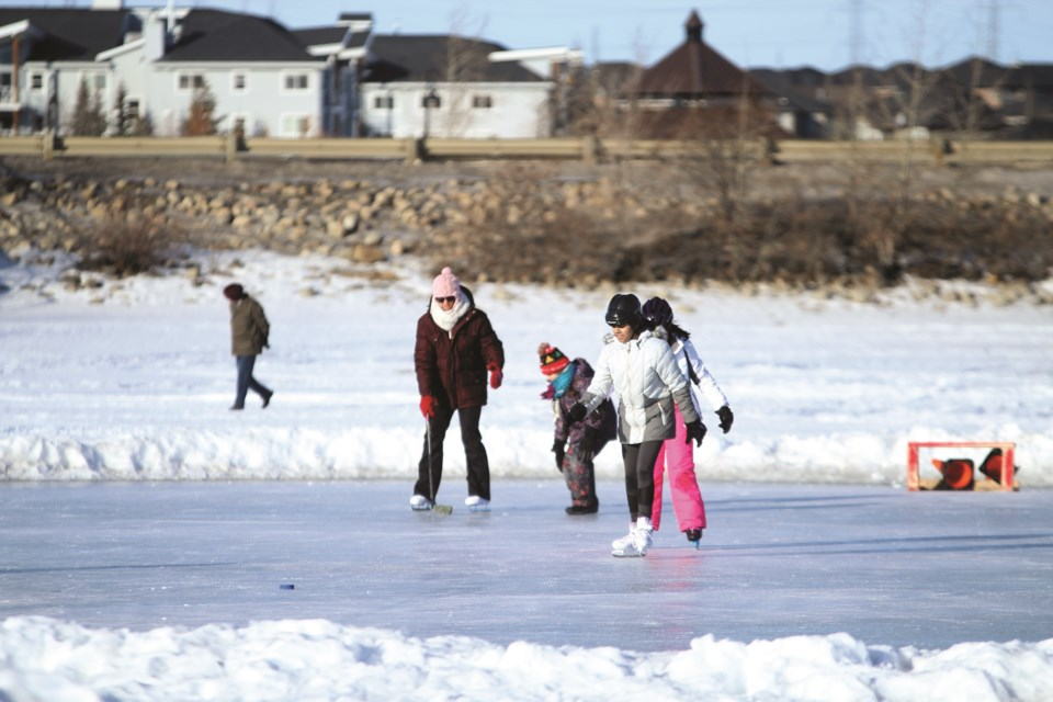 The City of Chestermere's new winter activities guide includes a map of the City's sanctioned skating rinks.