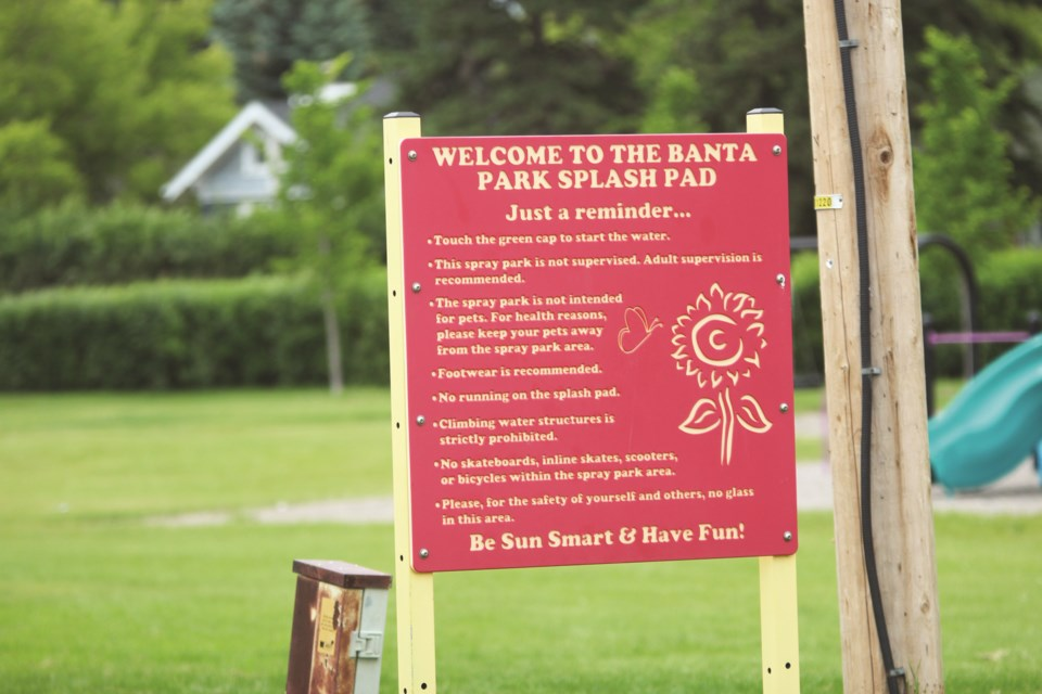 The Town of Crossfield is keeping its splash park closed this summer. Photo by Scott Strasser/Rocky View Weekly.