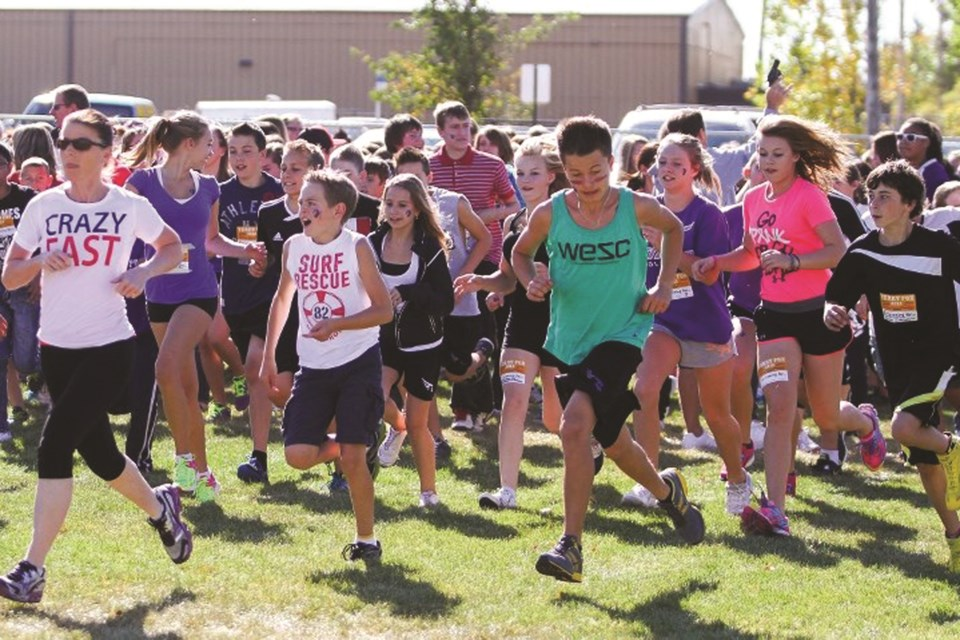 Schools in Rocky View County are getting creative with their Terry Fox Runs in 2020. File photo/Rocky View Weekly.