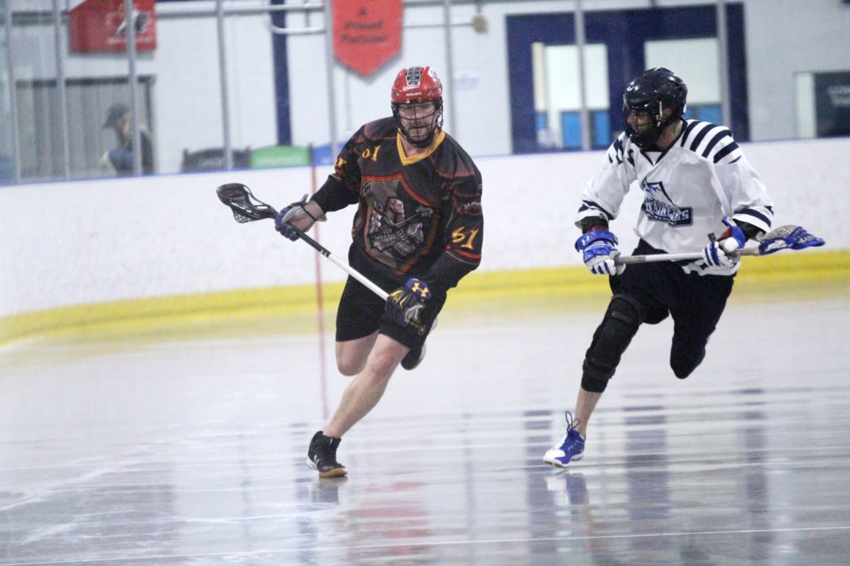 The Rockyview Knights lost 8-4 July 8 to the Calgary Mountaineers. The team is now tied for third in the RMLL Senior B division, with two games left to play. 