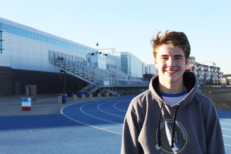 Airdrie Aces middle-distance runner Aiden Good is currently ranked second in Canada for his age group in the 800-metre. The 16-year-old raced to a 1:57.84 finish May 3 at a high-level track meet in Portland, Ore. 
