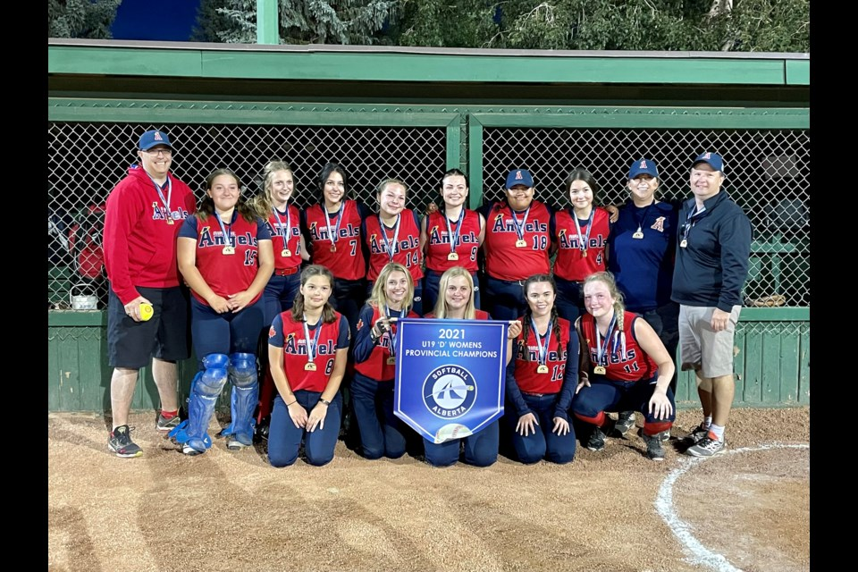 The Airdrie Angels U19D women's softball team added another provincial crowd to their medal haul on Aug. 21.