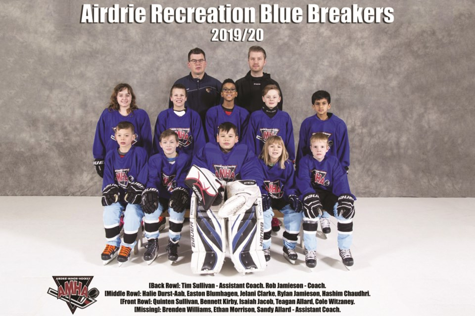 Airdrie Minor Hockey Association's recreation program for players aged seven to 11 is an ideal choice for families looking for a low-commitment athletics option for their kids, according to AMHA program administrator Donna Fuller. Photo submitted/For Airdrie City View.