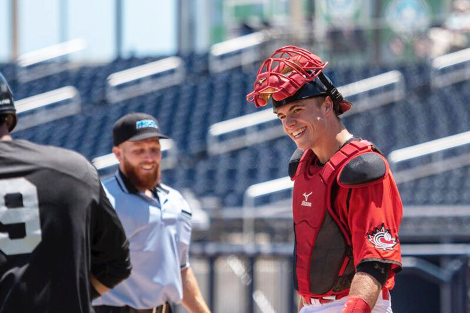 Airdrie's Ayden Makarus featured for the Canadian U18 men's baseball team at its annual spring training camp in Florida. 