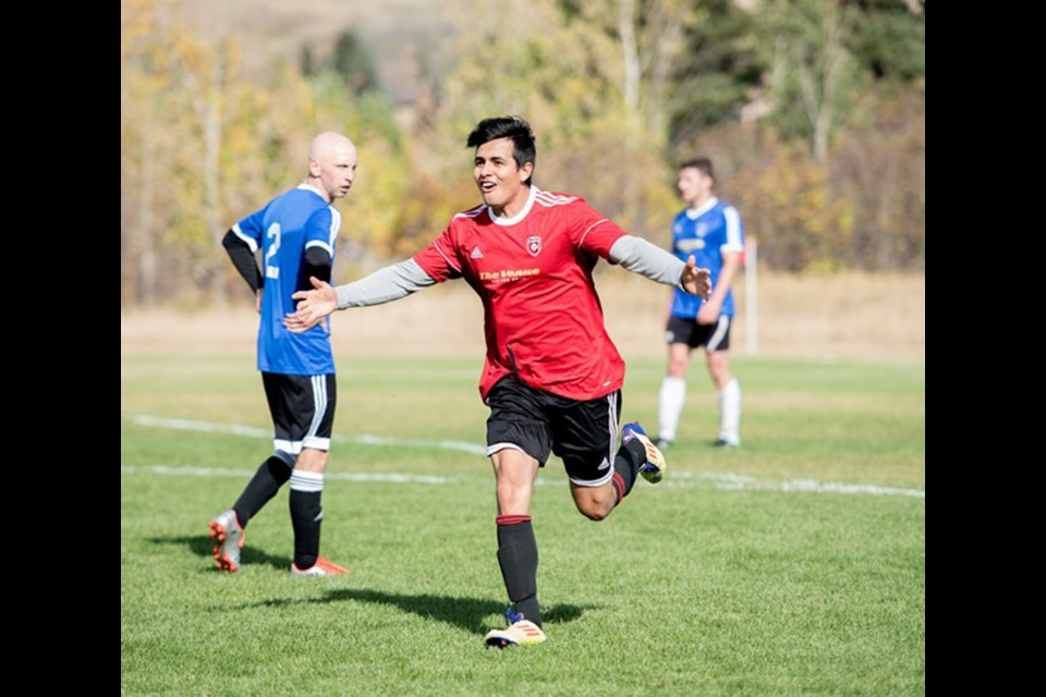 This year, the Cochrane Cup adult soccer tournament will have a new, seven-vs.-seven, co-ed format.  File Photo/Great West Newspapers