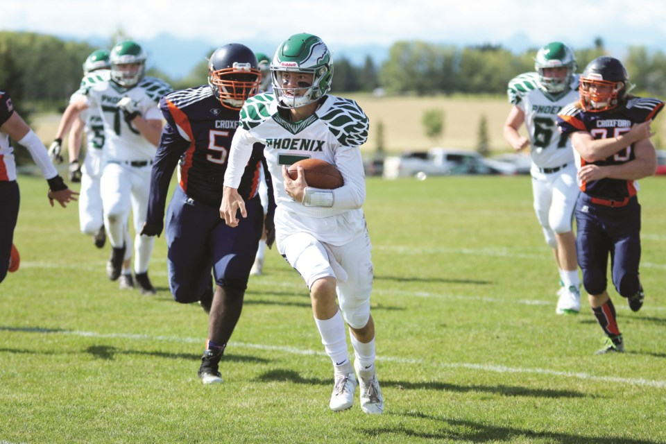 Springbank Phoenix quarterback Danny Skelton has committed to the University of Windsor football team for the fall of 2021. File photo/Rocky View Weekly.